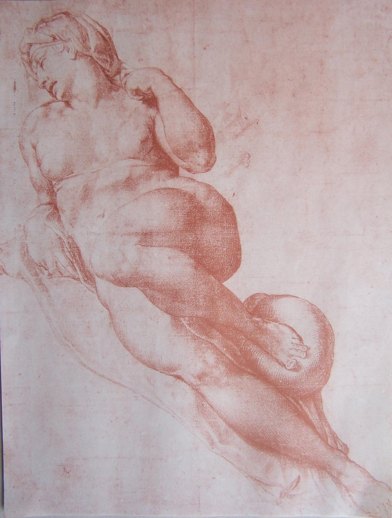 Study of a Nude 1 Michelangelo Buonarroti (Italian, Caprese 1475–1564 Rome)